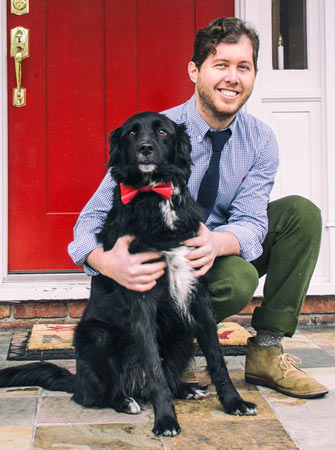 Dr Timothy Brown and his dog Levi